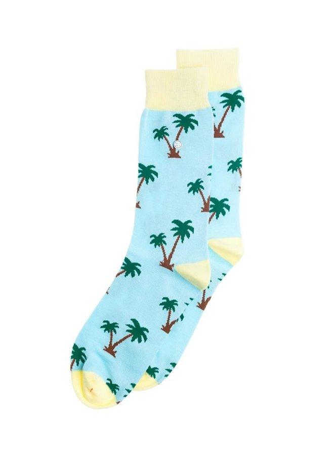 Alfredo Gonzales Socks Palm Springs Light Blue