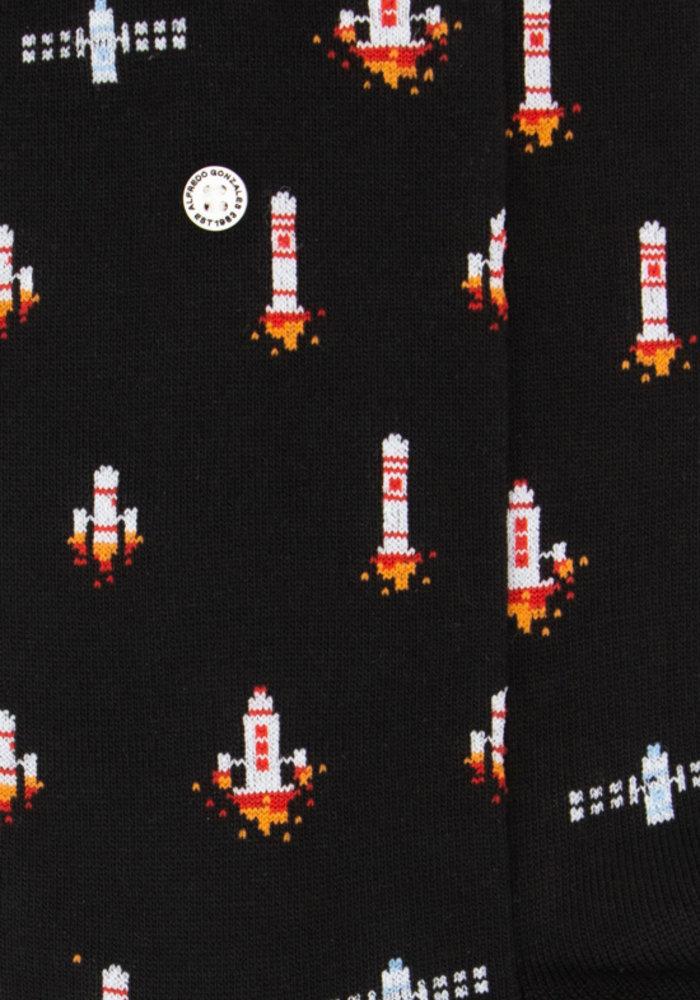 Alfredo Gonzales Socks Rockets In Space