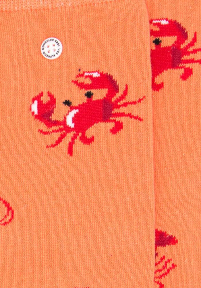 Alfredo Gonzales Socks Sea Critters Orange