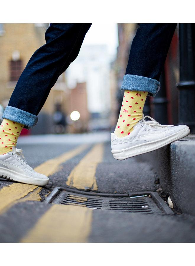 Alfredo Gonzales Socks Dots Yellow