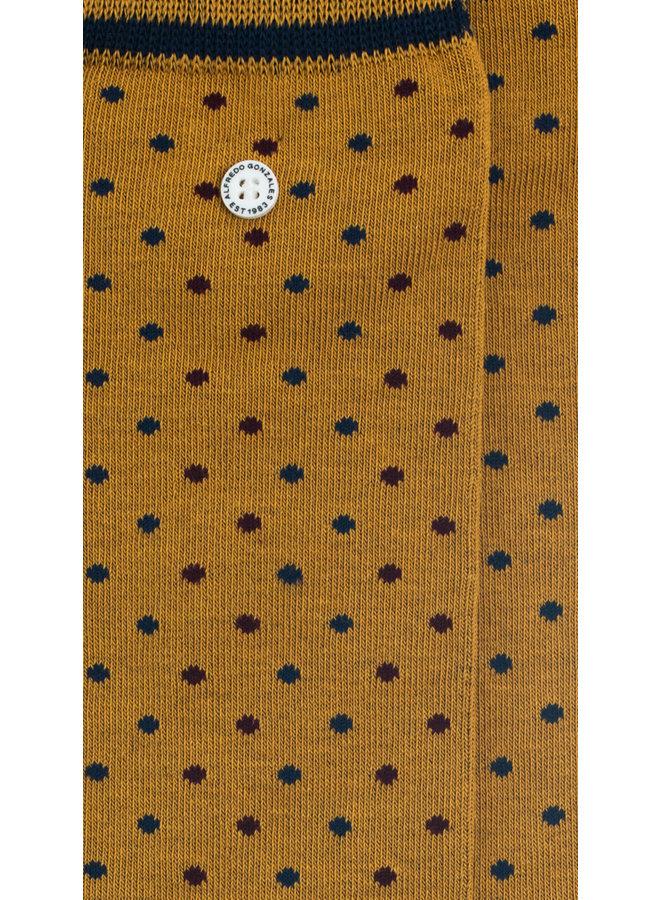 Alfredo Gonzales Socks Dots Khaki/Bordeaux/Navy