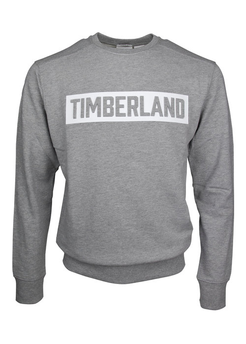 Timberland Timberland Crewneck Embossed Logo Sweat Mid Grey