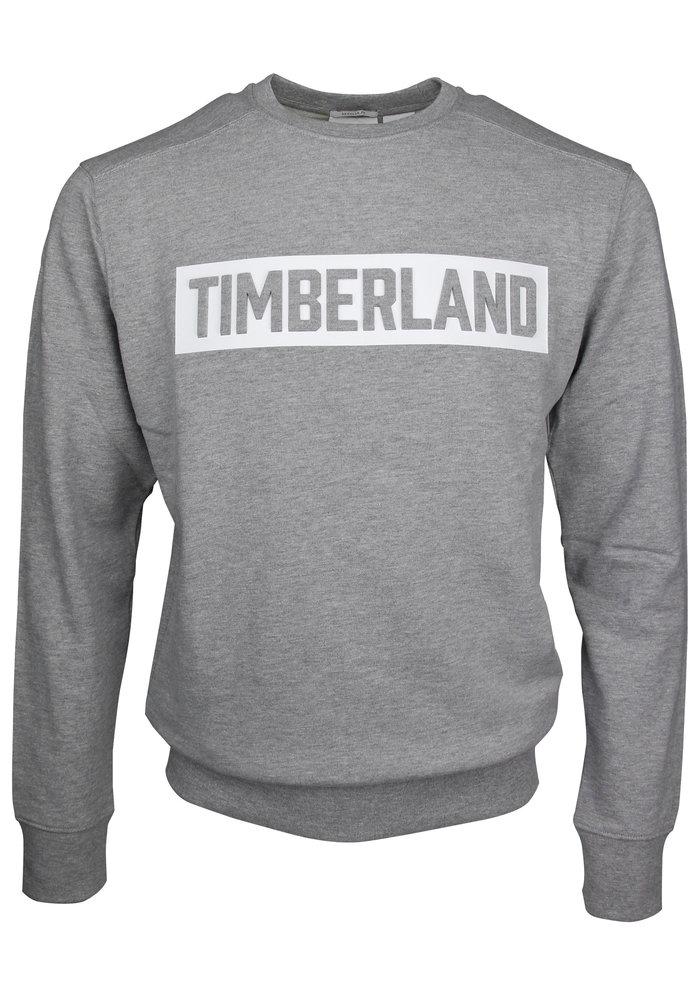 Timberland Crewneck Embossed Logo Sweat Mid Grey