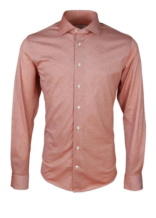 Profuomo Profuomo Knitted Shirt Cutaway Orange