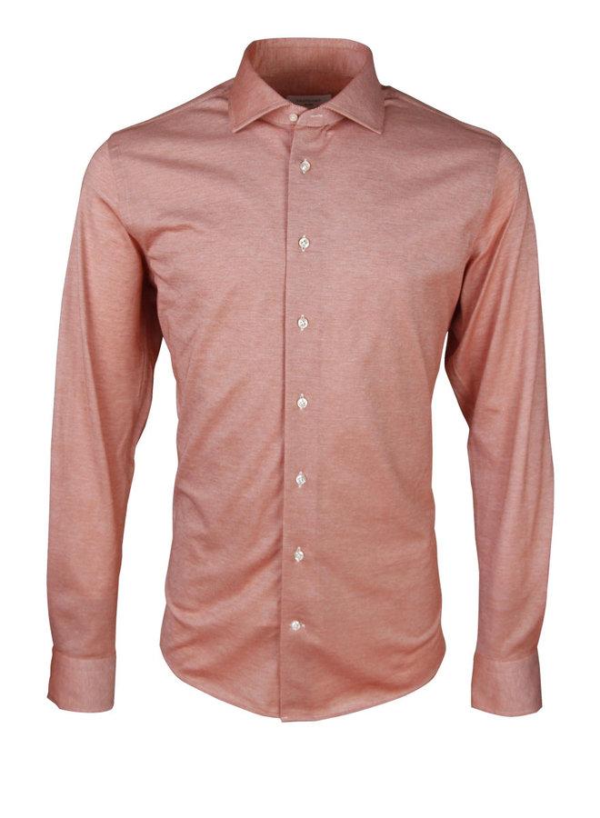 Profuomo Knitted Shirt Cutaway Orange