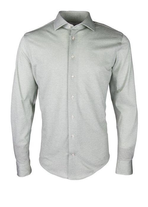 Profuomo Profuomo Knitted Shirt Cutaway Green