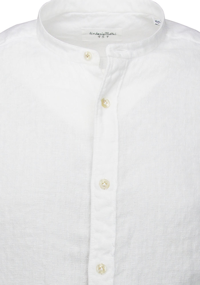 Tintoria Mattei Mao Shirt White 1T70CT5AA1