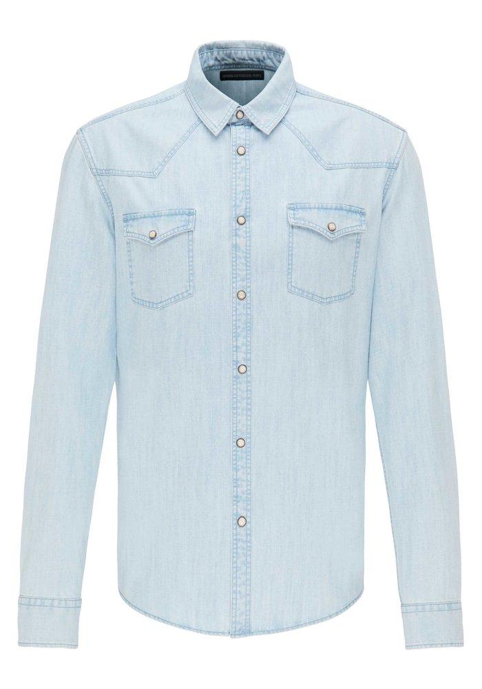 Drykorn Shirt Samu Light Denim
