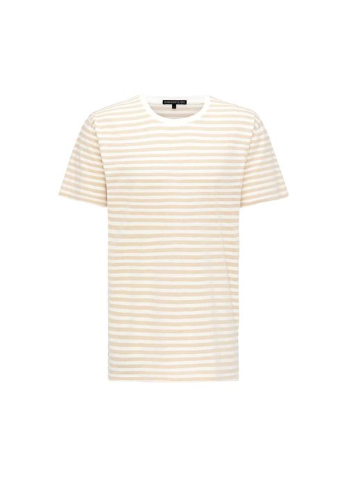 Drykorn Drykorn T-Shirt Samuel Striped White/Beige