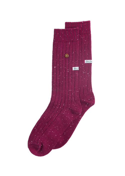 Alfredo Gonzales Alfredo Gonzales Socks Speckled Cotton Bordeaux