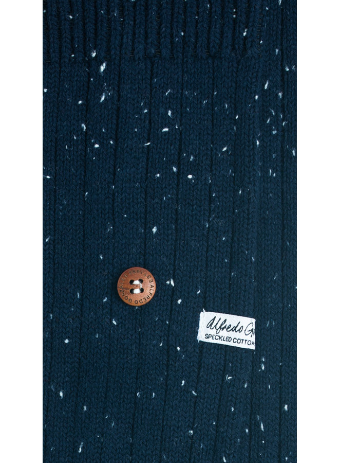 Alfredo Gonzales Socks Speckled Cotton Navy