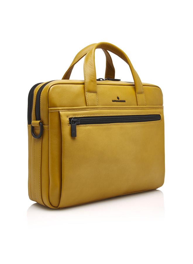 """Castelijn & Beerens 40 9460 GE Delta 13"""" laptoptas RFID Geel"""
