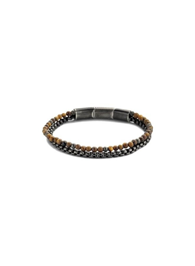 Frank 1967 7FB-0404 Bracelet Brown Leather steel