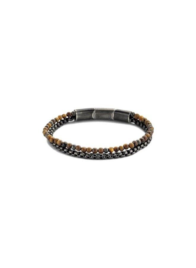 Frank 1967 Bracelet Brown Leather steel