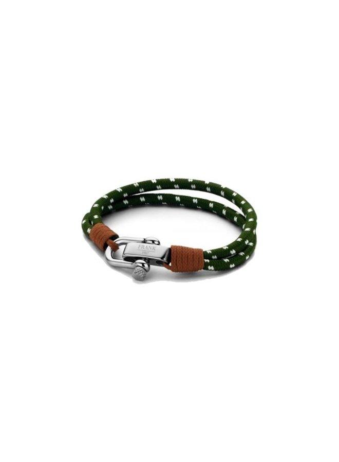 Frank 1967  Bracelet Woven Nylon Green White