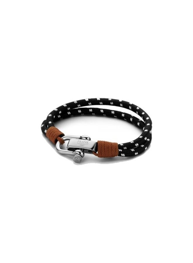 Frank 1967  Bracelet Woven Nylon Black White