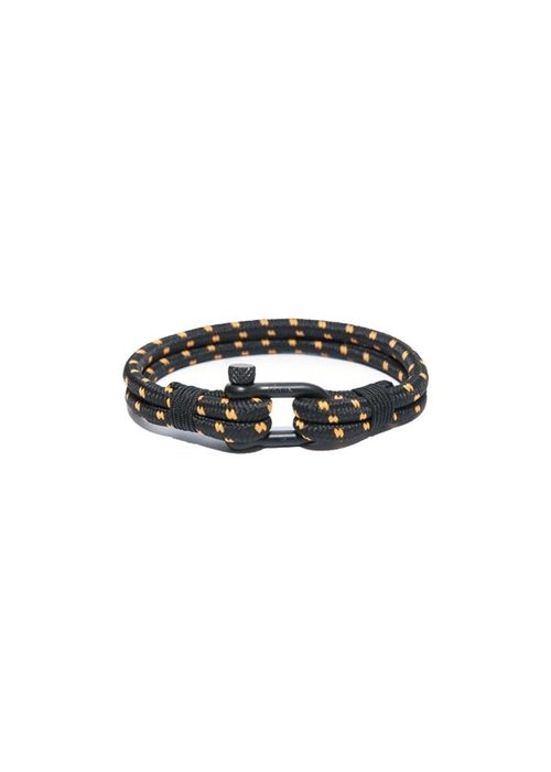 Frank 1967 Frank 1967 Bracelet Woven Nylon Black Orange