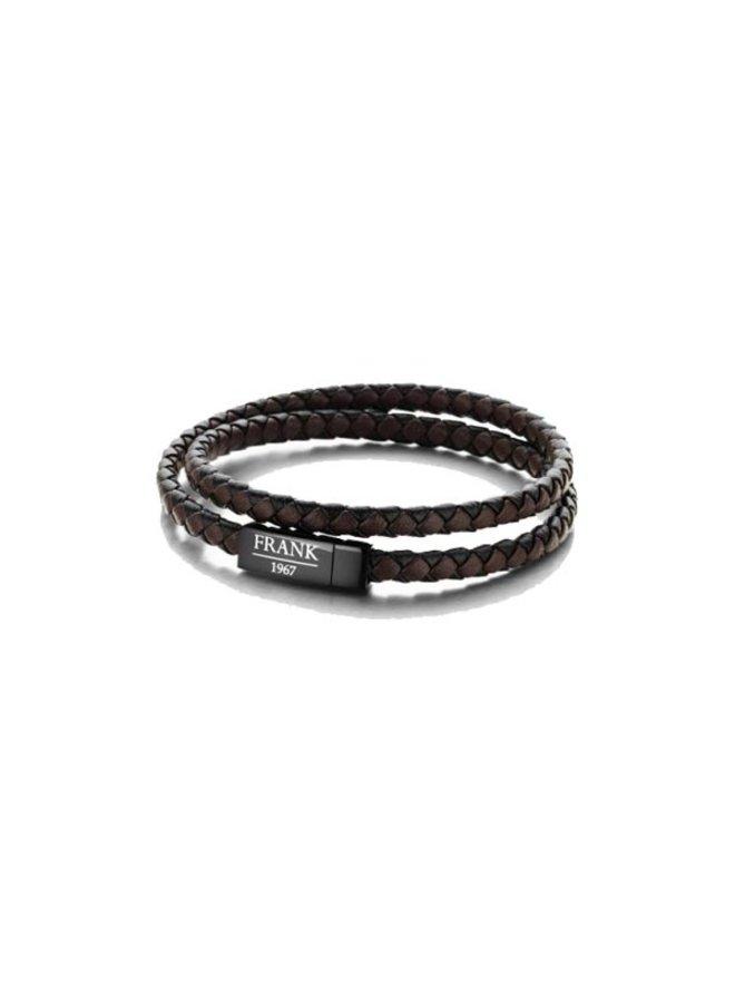 Frank 1967 7FB-155L Braided Bracelet leather Black