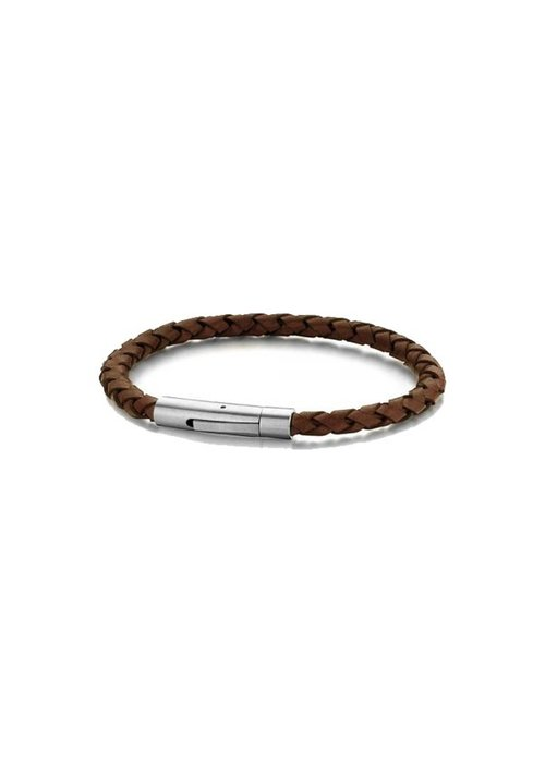 Frank 1967 Frank 1967 7FB-0408 Steel Bracelet D.Brown Leather 21