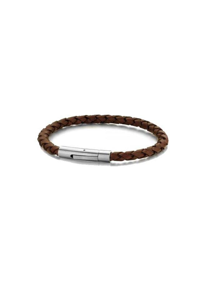 Frank 1967 7FB-0408 Steel Bracelet D.Brown Leather 21