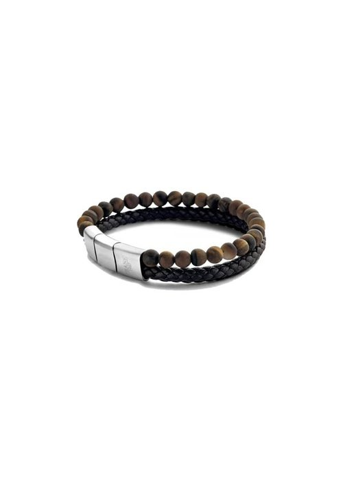 Frank 1967 Frank 1967  Bracelet Brown Tiger Eye Leather