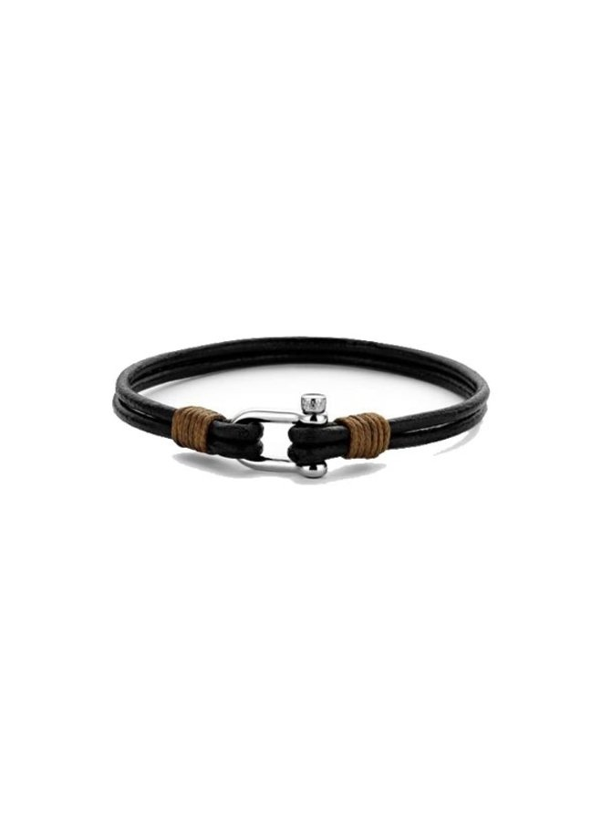 Frank 1967 7FB-0333 Anchor Bracelet Brown Leather