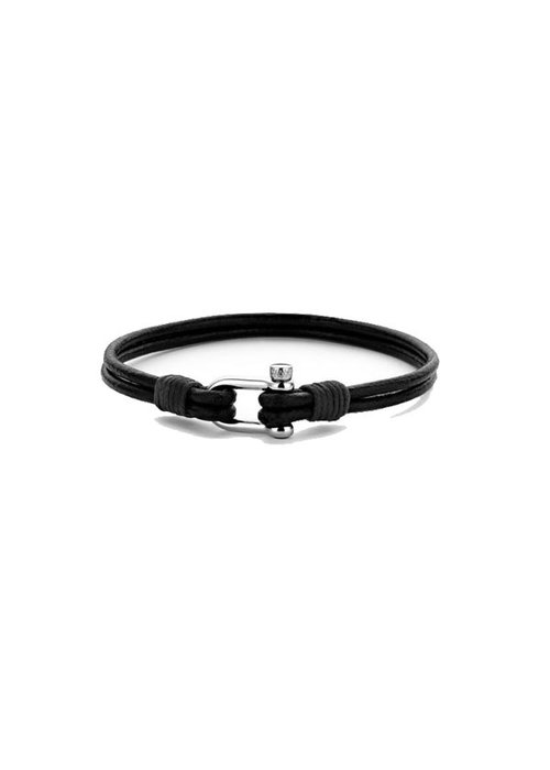Frank 1967 Frank 1967 7FB-0332 Anchor Bracelet Black Leather