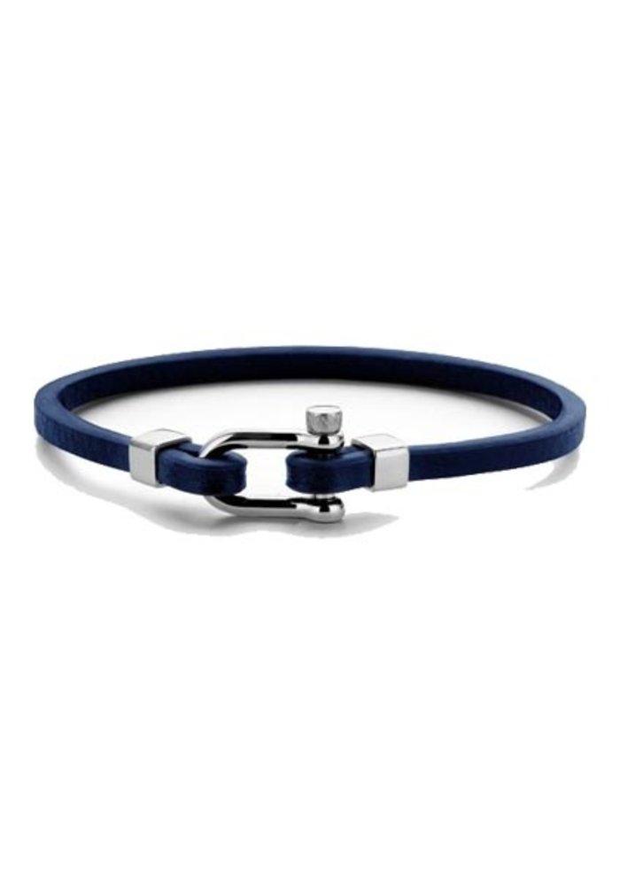 Frank 1967 7FB-0331 Anchor Bracelet Blue Leather