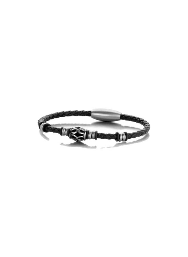 Frank 1967 7FB-0304 Bracelet Leather Black Twisted