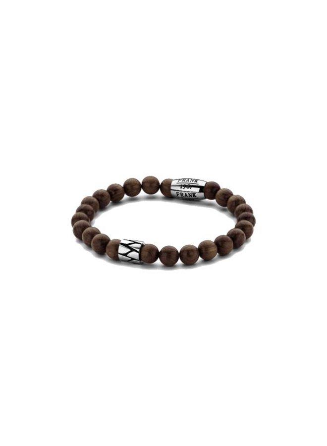 Frank 1967 7FB-0212 Bracelet Wooden Beads Brown