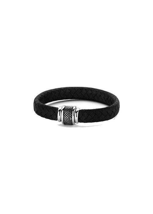 Frank 1967 Frank 1967 7FB-0194  Bracelet Woven Lea Black
