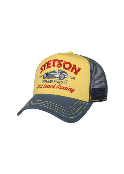 Stetson Stetson 7751154-29 Trucker Cap Dirt Track Racing Yellow / Blue