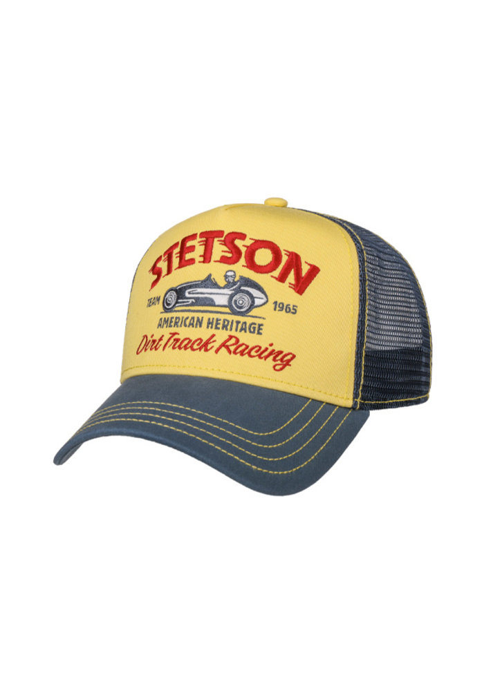 Stetson 7751154-29 Trucker Cap Dirt Track Racing Yellow / Blue
