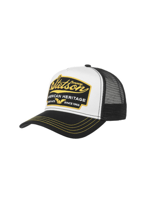 Stetson Stetson 7751103-17 Trucker Cap American Heritage Black / Yellow