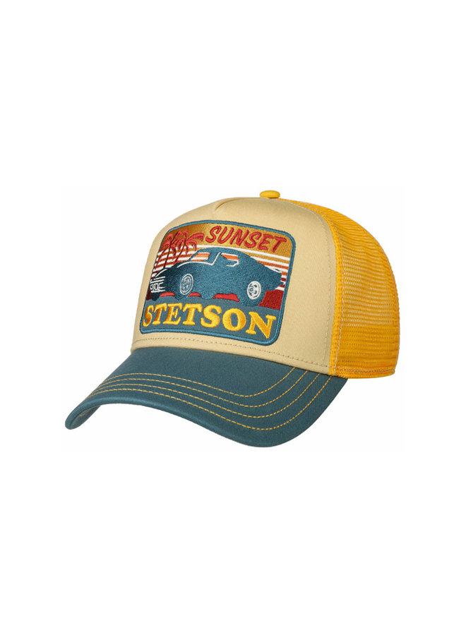 Stetson 7751156-29 Trucker Cap Sunset Yellow / Blue