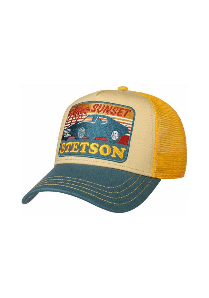 Stetson 7751156-29 Trucker Cap Sunset Yellow / Blue