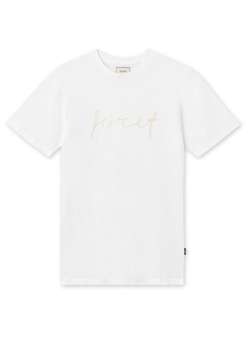 Forét Forét Slope T-Shirt White Gold