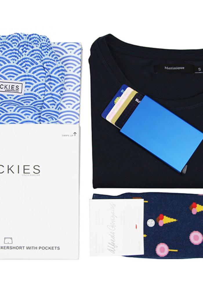 Vaderdag geschenkset marine blue