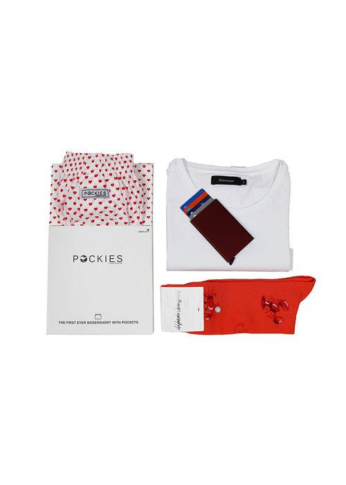Vaderdag geschenkset white / red