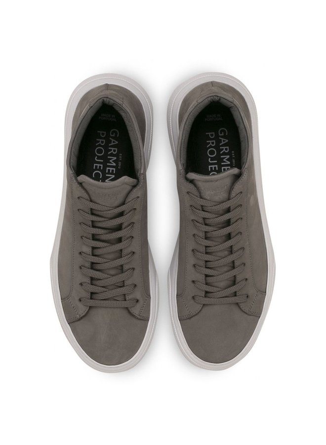 Garment Project Sneaker Type Mid Grey Nubuck