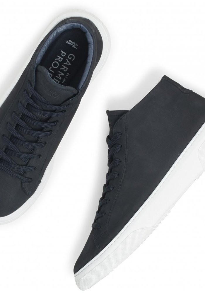 Garment Project Sneaker Type Mid Navy Nubuck