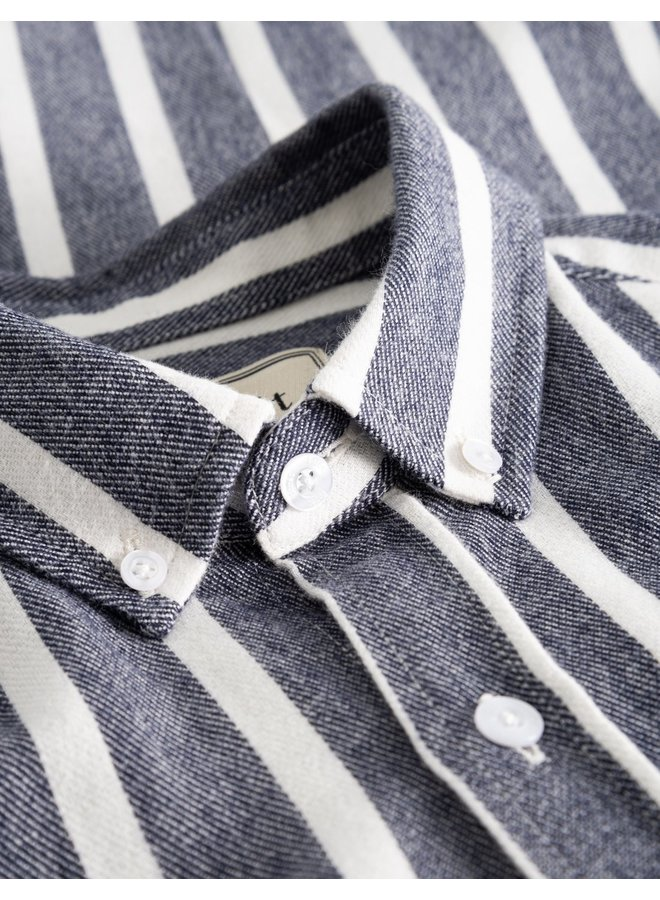 Forét Sun Shirt White / Navy