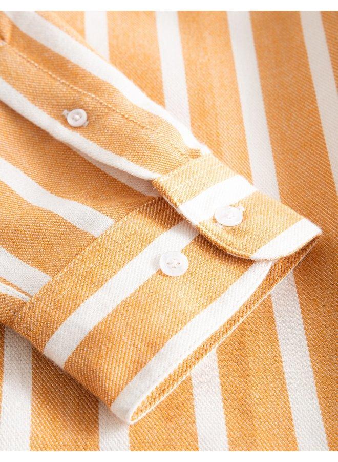 Forét Sun Shirt White / Tan
