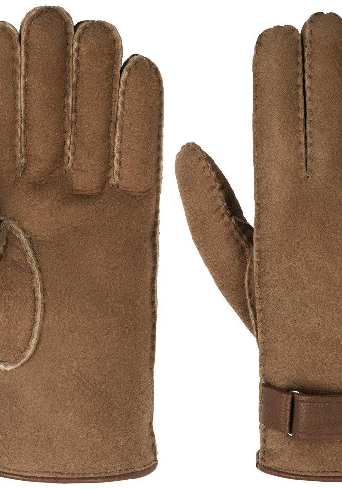 Stetson 9497506-6 Gloves Lambfur/ Deerskin Brown