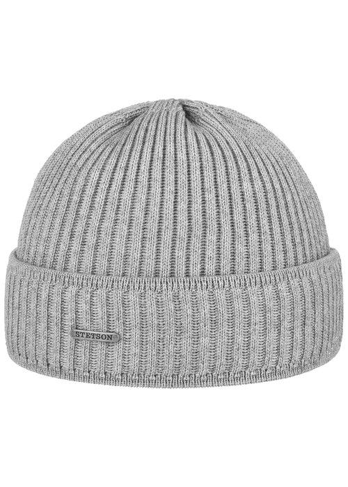 Stetson Stetson 8529301 3 Beanie Merino Wool Grey