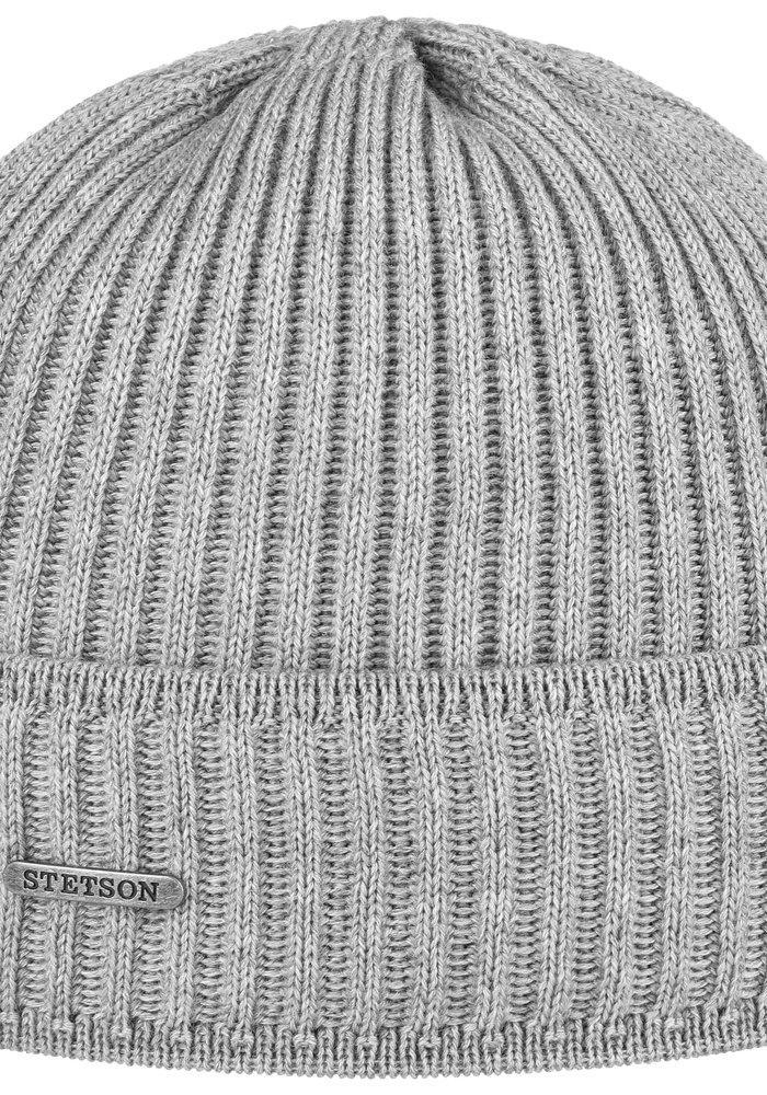 Stetson 8529301 3 Beanie Merino Wool Grey