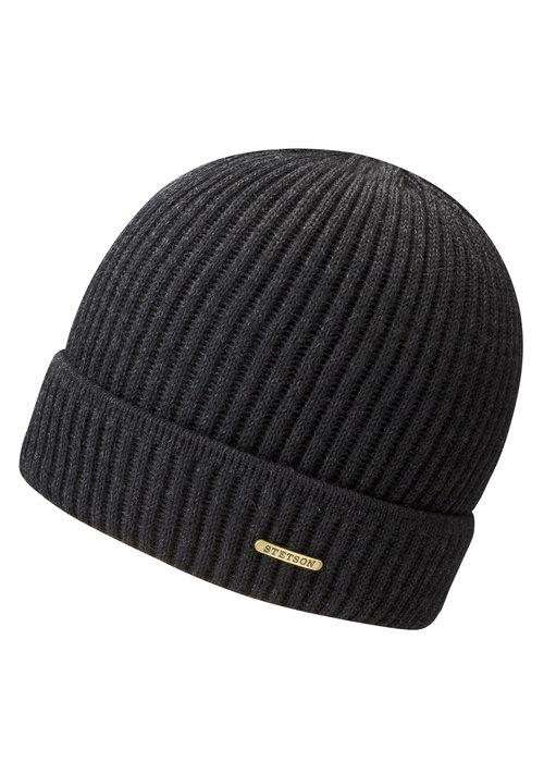 Stetson Stetson 8529301 1 Beanie Merino Wool Black