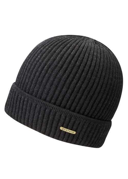 Stetson Stetson 8529301 61 Beanie Merino Wool Black