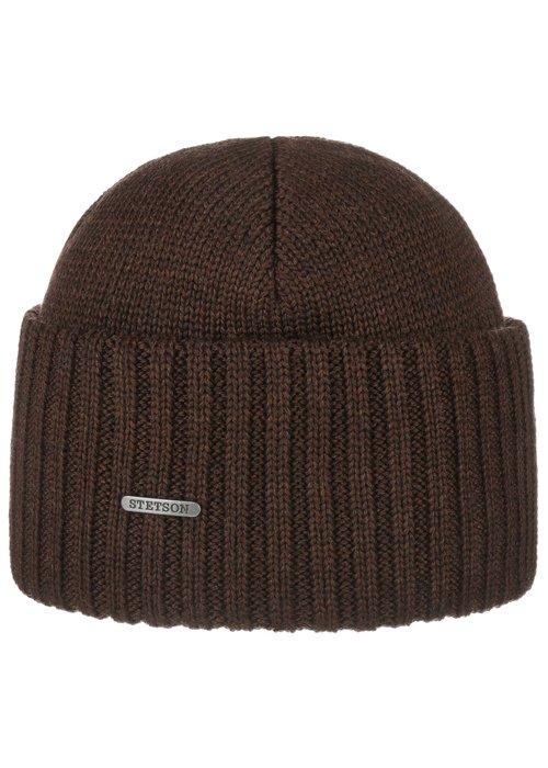 Stetson Stetson 8529301 61 Beanie Merino Wool Brown