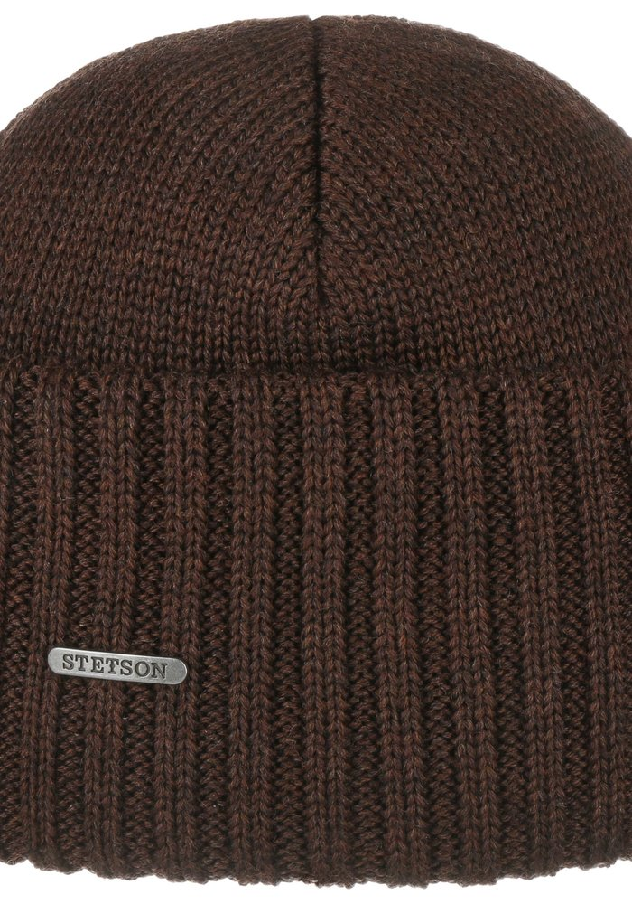Stetson 8529301 61 Beanie Merino Wool Brown